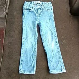 Girl blue jeans